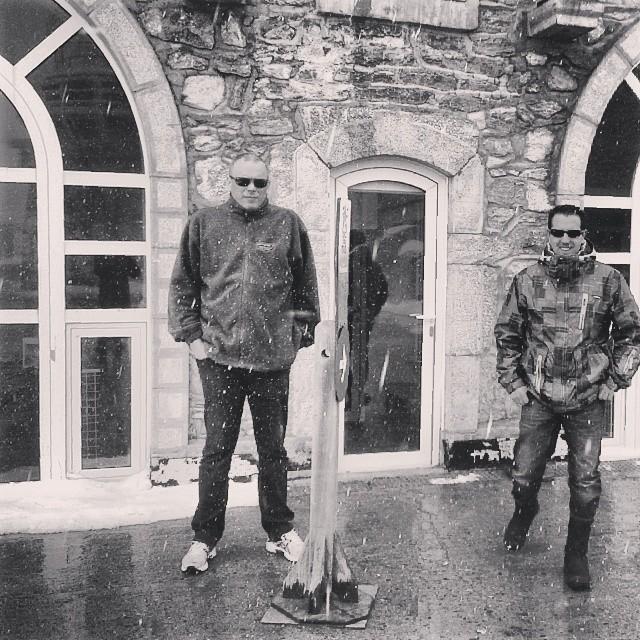 Neige au Pic devant le bâtiment Nansouty,