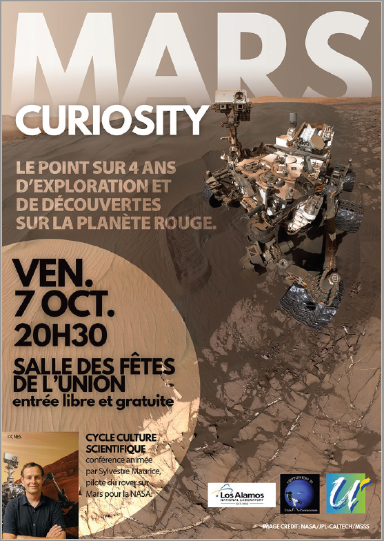 Affiche Mars Curiosity