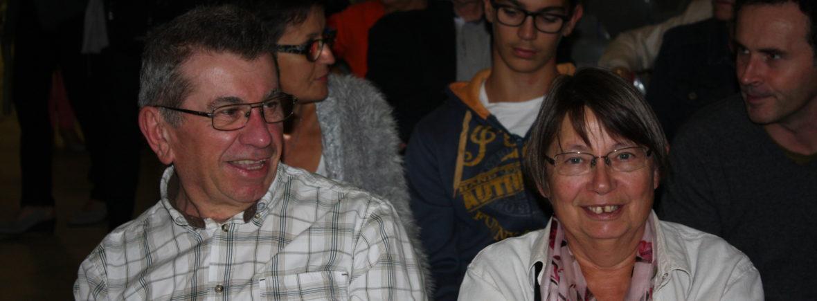 Maurice et Nicole lors de la Conférence Mars Curiosity en octobre dernier