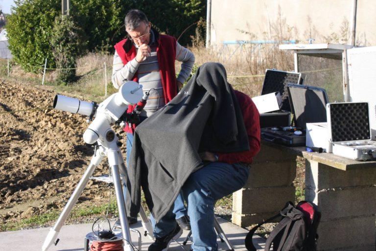 Poste d'observation solaire